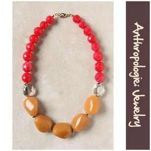 """Anthro """"Colorblocked Strands Necklace"""""""